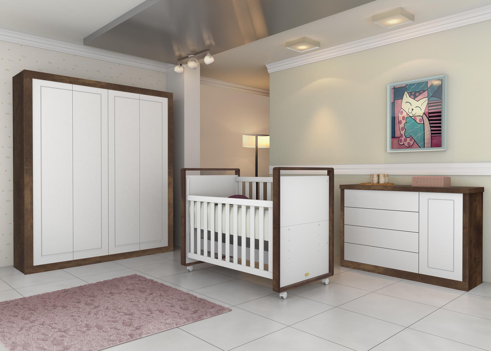Dormitorio TuTTo Matic/ Branco amadeirado